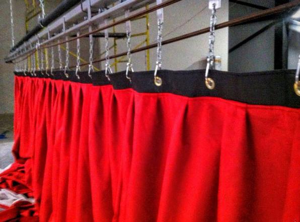 fabricación de telones para teatros