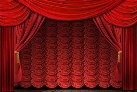 Telones para teatros y salas teatrales cant brica de textiles - Cortinas infantiles barcelona ...