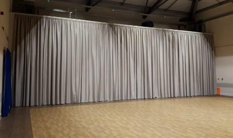 cortina industrial acústica para pabellon