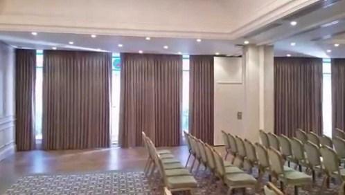 cortinas acústicas para complejos hoteleros