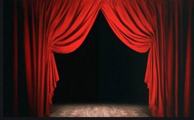 telones para teatros fabricados con apertura a la francesa