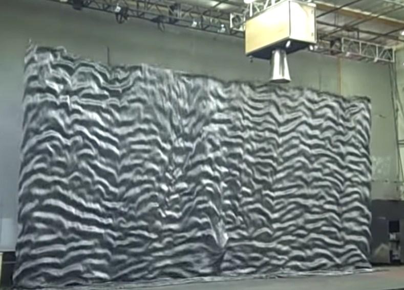 sistema apertura telón de teatro kabuki con aspiración